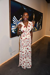 Singer Sonique at the launch of Unit London Mayfair and Ryan Hewett The Garden Preview, Hanover Square, London, England. 26 June 2018.