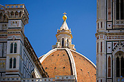 The dome of the Cathedral of Santa Maria del Fiore (Duomo), Florence, Tuscany, Italy