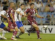 Javier Arizmendi (middle) scores the winning goal for Real Zaragoza. Real Zaragoza v Tenerife 1-0 in La Romareda the first game of the 2009/2010 LA LIGA season, 29th August 2009