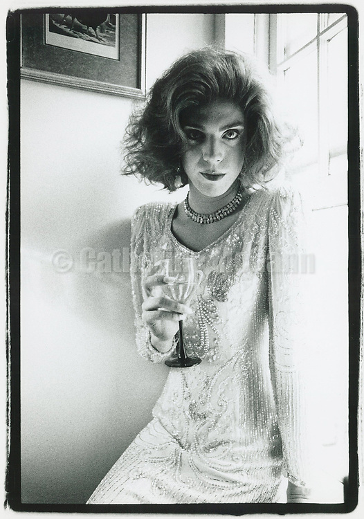 June 1992:  A portrait of drag queen Miss Coco Peru at home in New York City.