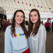 14.06.2018.             <br /> Limerick Food Group hosted the Urban Food Fest street food evening in the Milk Market on Thursday June 14th with a 'Summer Fiesta' theme in one big Limerick city summer party.<br /> <br /> Pictured at the event were, Lisa McKeown and Zara Madden. Picture: Alan Place