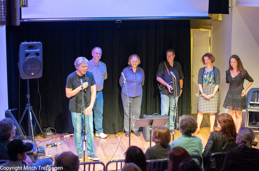 Artists Without Walls June 2018 Showcase. With  Renata Hinrichs, David S. Goldman, Charles R. Hale, Niamh Hyland, Sam Adelman, Jillian Buckley, and Too Many Lauras, featuring Cecil Hooker and Peter Nolan. At the cell theatre in Manhattan, New York City. June 26, 2018.