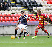 Dundee's Julen Etxabeguren and Partick Thistle&rsquo;s Ryan Stevenson - Partick Thistle v Dundee, Ladbrokes Premiership at Firhill<br /> <br />  - &copy; David Young - www.davidyoungphoto.co.uk - email: davidyoungphoto@gmail.com