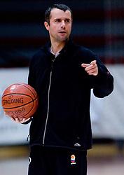 Head coach Miro Alilovic at practice of KK Slovan basketball team, on February 3, 2010 in Arena Kodeljevo, Ljubljana, Slovenia.  (Photo by Vid Ponikvar / Sportida)