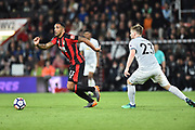 Callum Wilson (13) of AFC Bournemouth on the attack during the Premier League match between Bournemouth and Manchester United at the Vitality Stadium, Bournemouth, England on 18 April 2018. Picture by Graham Hunt.