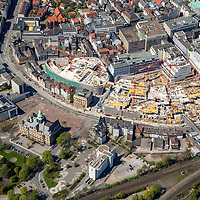 Recklinghausen Arcaden, mfi, Neues Shopping Center, Wallring, Baustelle, Luftbild: J. Gutzeit, 13.10.2013