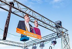 08.07.2017, Red Bull Ring, Spielberg, AUT, FIA, Formel 1, Grosser Preis von Österreich, Qualifying, im Bild Campingplatz, Plakat mit Willem-Alexander und Maxima der Niederlande // Campsite Poster with Willem Alexander and Maxima of the Netherlands After the Qualifying of the Austrian FIA Formula One Grand Prix at the Red Bull Ring in Spielberg, Austria on 2017/07/08. EXPA Pictures © 2017, PhotoCredit: EXPA/ JFK