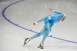 February 23, 2018 - Pyeongchang, Gangwon, South Korea - Denis Kuzin of  Kazakhstan at 1000 meter speedskating at winter olympics, Gangneung South Korea on February 23, 2018. (Credit Image: © Ulrik Pedersen/NurPhoto via ZUMA Press)