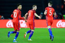 England's Harry Kane celebrates after scoring his sides first goal  - Mandatory by-line: Matt McNulty/JMP - 26/03/2016 - FOOTBALL - Olympiastadion - Berlin, Germany - Germany v England - International Friendly