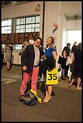SIMON CHARLES; SALLY GOODHALL, Matt's Gallery 35th birthday fundraising supper.  42-44 Copperfield Road, London E3 4RR. 12 June 2014.
