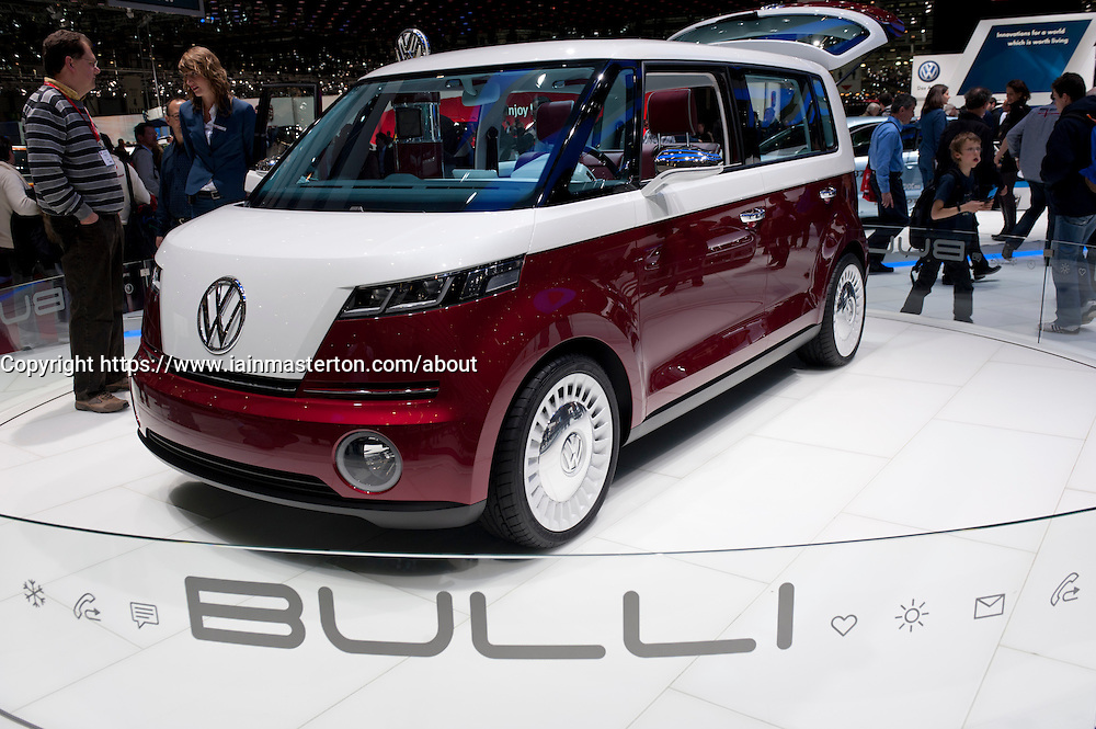 Volkswagen Bulli concept electric vehicle at the Geneva Motor Show 2011 Switzerland
