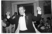 NIGEL DEMPSTER, party given by Mrs. H. Mazandi, Chester Sq. London. 1984<br /> SUPPLIED FOR ONE-TIME USE ONLY&gt; DO NOT ARCHIVE. &copy; Copyright Photograph by Dafydd Jones 248 Clapham Rd.  London SW90PZ Tel 020 7820 0771 www.dafjones.com