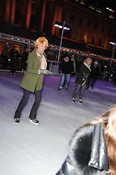 OLIVIA INGE skating at Skate presented by Tiffany & Co at Somerset House, London on 22nd November 2010.