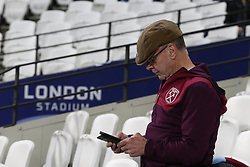 A West Ham United fan in the stands