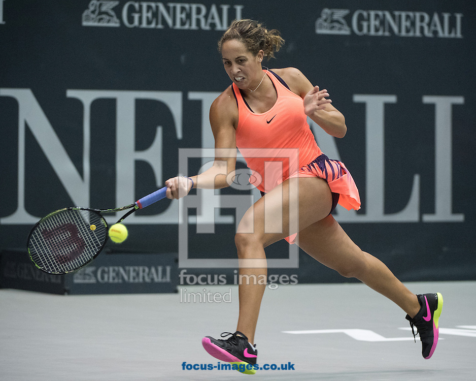 Madison Keys (USA) on Day Three of the WTA Generali Ladies Linz Open at TipsArena, Linz<br /> Picture by EXPA Pictures/Focus Images Ltd 07814482222<br /> 12/10/2016<br /> *** UK &amp; IRELAND ONLY ***<br /> <br /> EXPA-REI-161012-5015.jpg