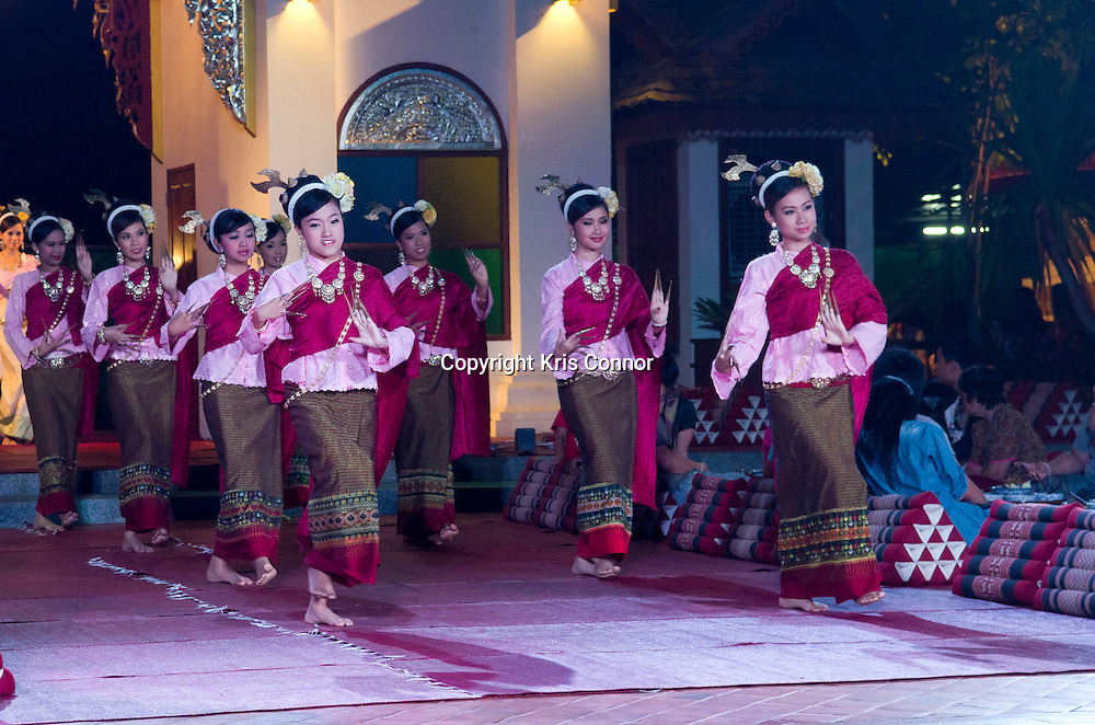A group of performers at the Khum Khantoke restaurant in Chiang Mai, Thailand. Photo by Kris Connor