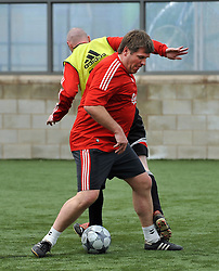 LIVERPOOL, ENGLAND - Tuesday, May 12, 2009: Ex-Liverpool player Jan Molby during a training session at Melwood as the players prepare for the Hillsborough Memorial Game in aid of the Marina Dalglish Appeal which will be staged at Anfield on May 14. (Photo by Dave Kendall/Propaganda)