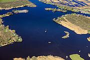 Nederland, Friesland, Gemeente Tietjerksteradeel, 01-05-2013; Nationaal Park De Alde Feanen (De Oude Venen), Eernewoude.<br /> Laagveengbied, cultuurlandschap gedeeltelijk ontstaan door vervening. Laagveenmoeras met meren, veenplassen, petgaten<br /> Natura 2000 gebied, in beheer bij It Fryske Gea<br /> Nature reserve and National Park De Alde Feanen (Old Peat Area), Eernewoude.<br /> Culture landscape, partly resulting from peat digging. Northern Netherlands.<br /> luchtfoto (toeslag op standard tarieven)<br /> aerial photo (additional fee required)<br /> copyright foto/photo Siebe Swart