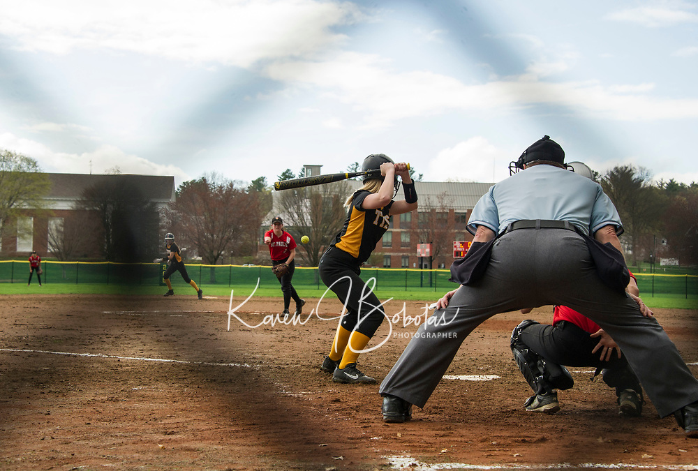 St Paul's School softball versus Tilton School.<br /> ©2017 Karen Bobotas Photographer