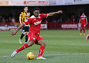 Crawley's Gavin Tomlin shoots at goal during the Sky Bet League 1 match between Crawley Town and Port Vale at Broadfield Stadium, Crawley, England on 20 December 2014. Photo by Phil Duncan.