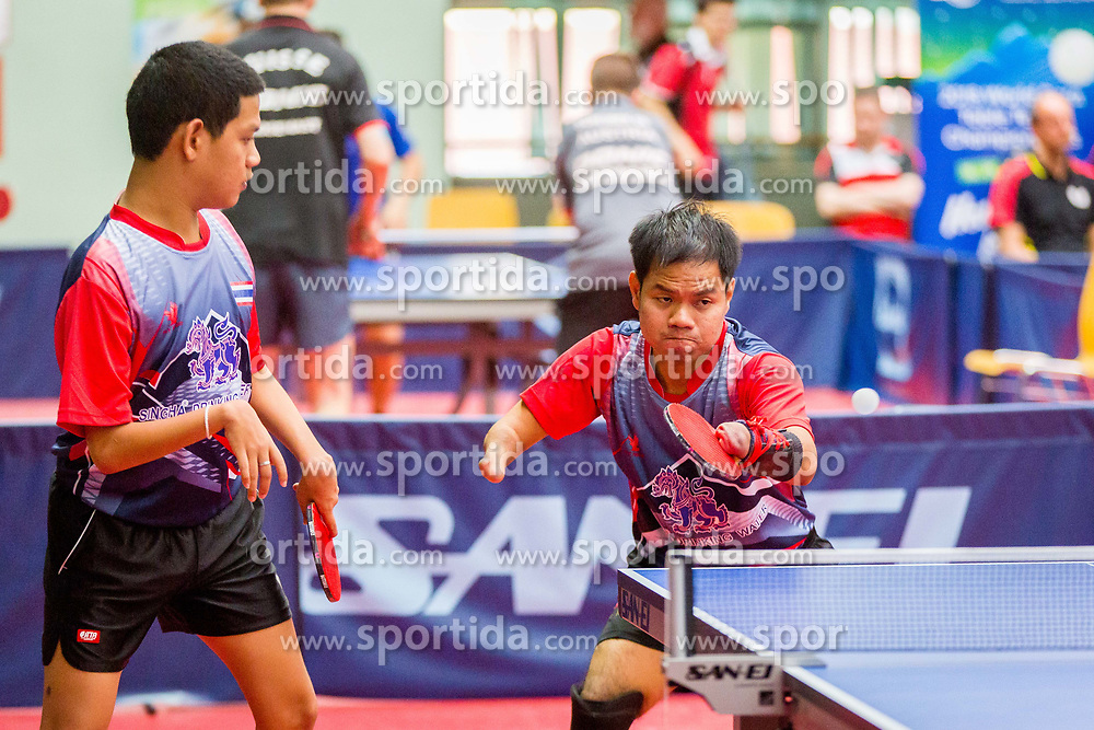 (Team THA) THAINIYOM Rungroj and PUNPOO Chalermpong? in action during 15th Slovenia Open - Thermana Lasko 2018 Table Tennis for the Disabled, on May 10, 2018 in Dvorana Tri Lilije, Lasko, Slovenia. Photo by Ziga Zupan / Sportida