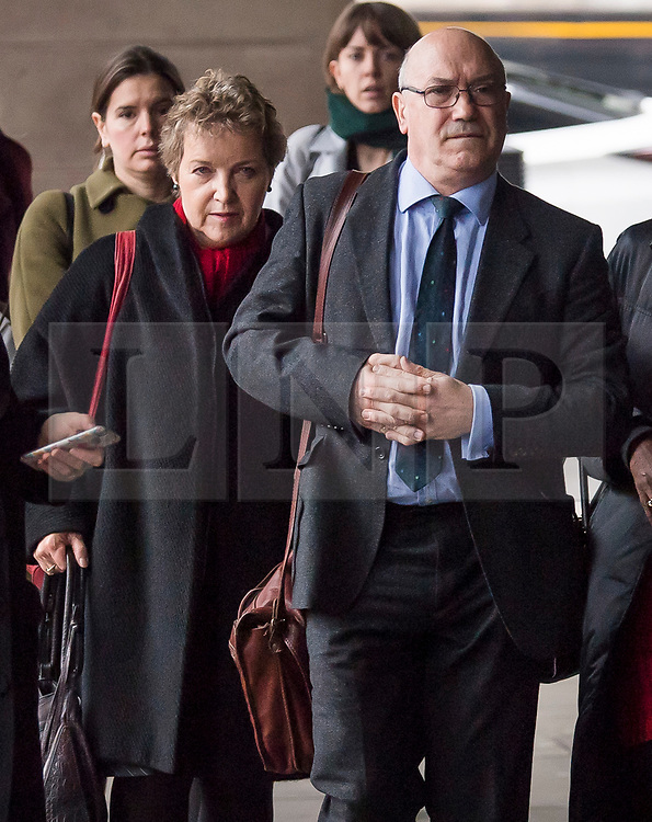 © Licensed to London News Pictures. 20/02/2018. London, UK. Chair of Oxfam trustees CAROLINE THOMSON, Oxfam CEO, MARK GOLDRING  arrive at Portcullis House in London where Oxfam bosses are due to give evidence to an International Development Select Committee. The group will respond to allegations that prostitutes were hired by Oxfam workers during a humanitarian mission in Haiti. Photo credit: Ben Cawthra/LNP