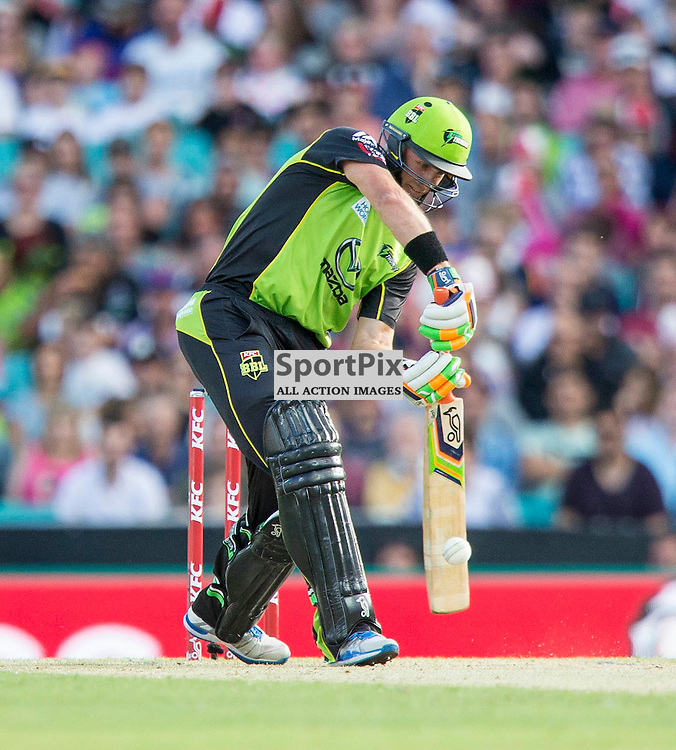 KFC Big Bash League T20 2015-16 , Sydney Sixers v Sydney Thunder, SCG; 16 January 2016<br /> Sydney Thunder Mike Hussey off the mark