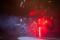 KELOWNA, CANADA - SEPTEMBER 22:  Dallon Wilton #15  of the Kelowna Rockets enters the ice against the Kamloops Blazers on September 22, 2018 at Prospera Place in Kelowna, British Columbia, Canada.  (Photo by Marissa Baecker/Shoot the Breeze)  *** Local Caption ***