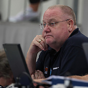Alan Thompson, Australian head swimming coach during the Australian Swimming Championships and Selection Trials for the XIII Fina World Championships held at Sydney Olympic Park Aquatic Centre, Sydney, Australia on March 20, 2009. Photo Tim Clayton