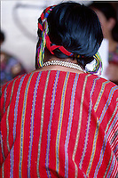 Mayan woman in traditional dress (huipil), Western Highlands, Guatemala
