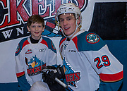 KELOWNA, CANADA - JANUARY 05:  Pepsi Player of the Game with Nolan Foote #29 of the Kelowna Rockets at the Kelowna Rockets game on January 05, 2018 at Prospera Place in Kelowna, British Columbia, Canada.  (Photo By Cindy Rogers/Nyasa Photography,  *** Local Caption ***
