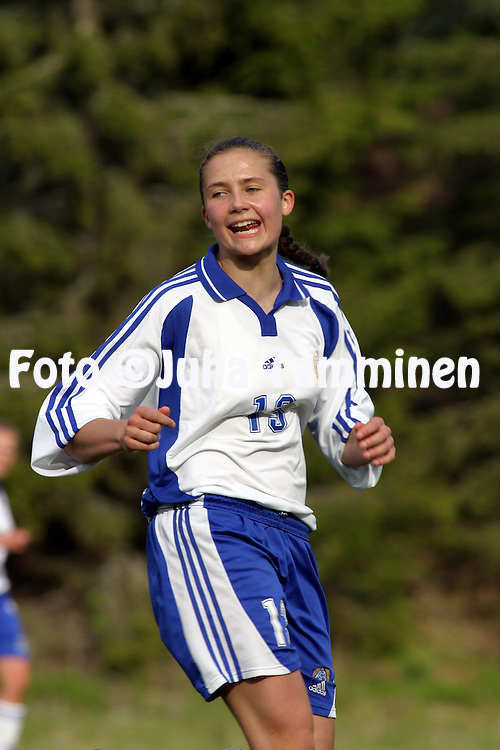 23.05.2003, Eerikkil?n urheiluopisto, Tammela, Finland..Girls under-17 Friendly International Match, Finland v Denmark..Peppiina Pentti - Finland.©Juha Tamminen