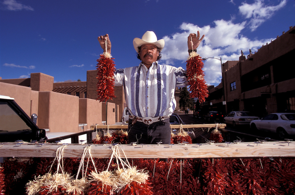 Chili Vendor, Santa Fe, New Mexico, USA