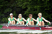 Henley GREAT BRITAIN. Open Women's Quad - OW4X.NCRA Women's Henley Regatta, Henley Reach, England. [Mandatory Credit Peter Spurrier Intersport Images]
