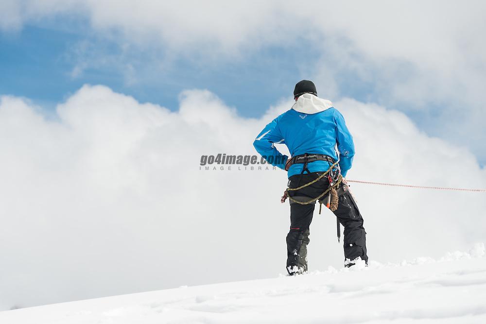22. April 2014 PDG 2014<br /> Patrouille des Glacier 2014 Arolla<br /> Aufbau PDG