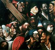 Christ Carrying the Cross.  Artist, Hieronymous Bosch (Jerome van Aken - c1460-1516). Dutch. Musee des Beaux Arts, Gand.