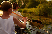 canoe on the Peene river, Germany