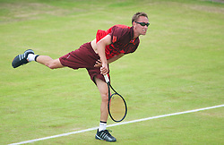LIVERPOOL, ENGLAND - Thursday, June 20, 2013: Simon Roberts during the Day One at the Liverpool Hope University International Tennis Tournament at Calderstones Park. (Pic by David Rawcliffe/Propaganda)