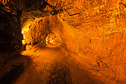 Inside the Thurston Lava Tube, Hawaii Volcanoes National Park, Hawaii USA