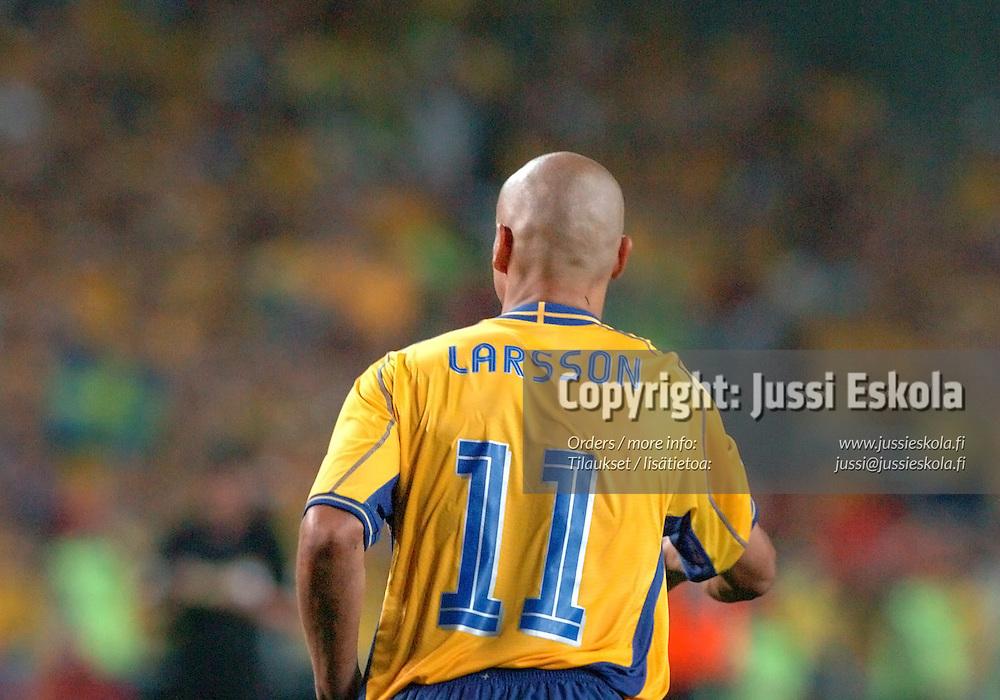 Henrik Larsson, Sweden-Holland 26.6.2004.&amp;#xA;Euro 2004.&amp;#xA;Photo: Jussi Eskola<br />