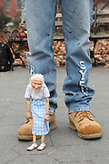 Manhattan, NY. Dec. 4, 2013. Doris is one of Ricky's most famous marionettes. They became famous when they were photographed by Brandon Stanton for Humans of New York. 12042013. Photo by Kayle Hope Schnell/CUNY Photo Wire