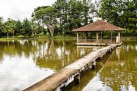 Lago para pesca no Sítio da Mutti. Cunha Porã, Santa Catarina, Brasil. / <br /> Lake for fishing at Mutti's Farm. Cunha Porã, Santa Catarina, Brazil.