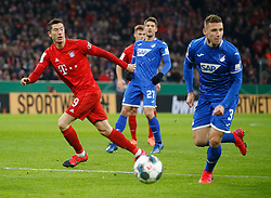 05.02.2020, Allianz Arena, Muenchen, GER, DFB Pokal, FC Bayern Muenchen vs TSG 1899 Hoffenheim, Achtelfinale, im Bild von links: Robert Lewandowski, Andrej Kramaric und Pavel Kaderrabek // during the German Pokal the round of last sixteen match between FC Bayern Muenchen and TSG 1899 Hoffenheim at the Allianz Arena in Muenchen, Germany on 2020/02/05. EXPA Pictures © 2020, PhotoCredit: EXPA/ SM<br /> <br /> *****ATTENTION - OUT of GER*****