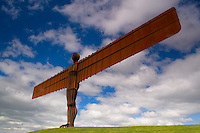 The colossal figure of The Angel of the North stands tall and proud watching over the gateway to the North.