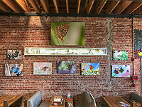 California Butterfly Project (Main wall display) at Bareburger, Santa Monica, CA, USA, on 20-Oct-17