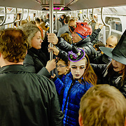 New York City Subway on Halloween