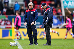 Bristol Rugby head coach Mark Tainton   and assistant Alan Solomons  - Rogan Thomson/JMP - 26/02/2017 - RUGBY UNION - Ashton Gate Stadium - Bristol, England - Bristol Rugby v Bath - Aviva Premiership.