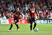Lewis Cook (16) of AFC Bournemouth and Jordon Ibe (10) of AFC Bournemouth during the Premier League match between Bournemouth and Everton at the Vitality Stadium, Bournemouth, England on 25 August 2018.