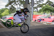 #108 (CHEVALLIER Laetitia) FRA at Round 5 of the 2019 UCI BMX Supercross World Cup in Saint-Quentin-En-Yvelines, France