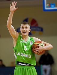 Luka Rupnik of Slovenia during basketball match between National teams of Sweden and Slovenia in First Round of U20 Men European Championship Slovenia 2012, on July 13, 2012 in Domzale, Slovenia. (Photo by Vid Ponikvar / Sportida.com)